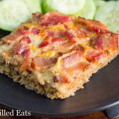 BBQ Cheddar Bacon Meatloaf – Low Carb, Keto, THM S
