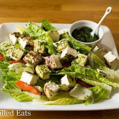 Grilled Paneer Salad – Low Carb, Grain Free, THM S