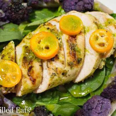 Citrus Basil Grilled Chicken Salad