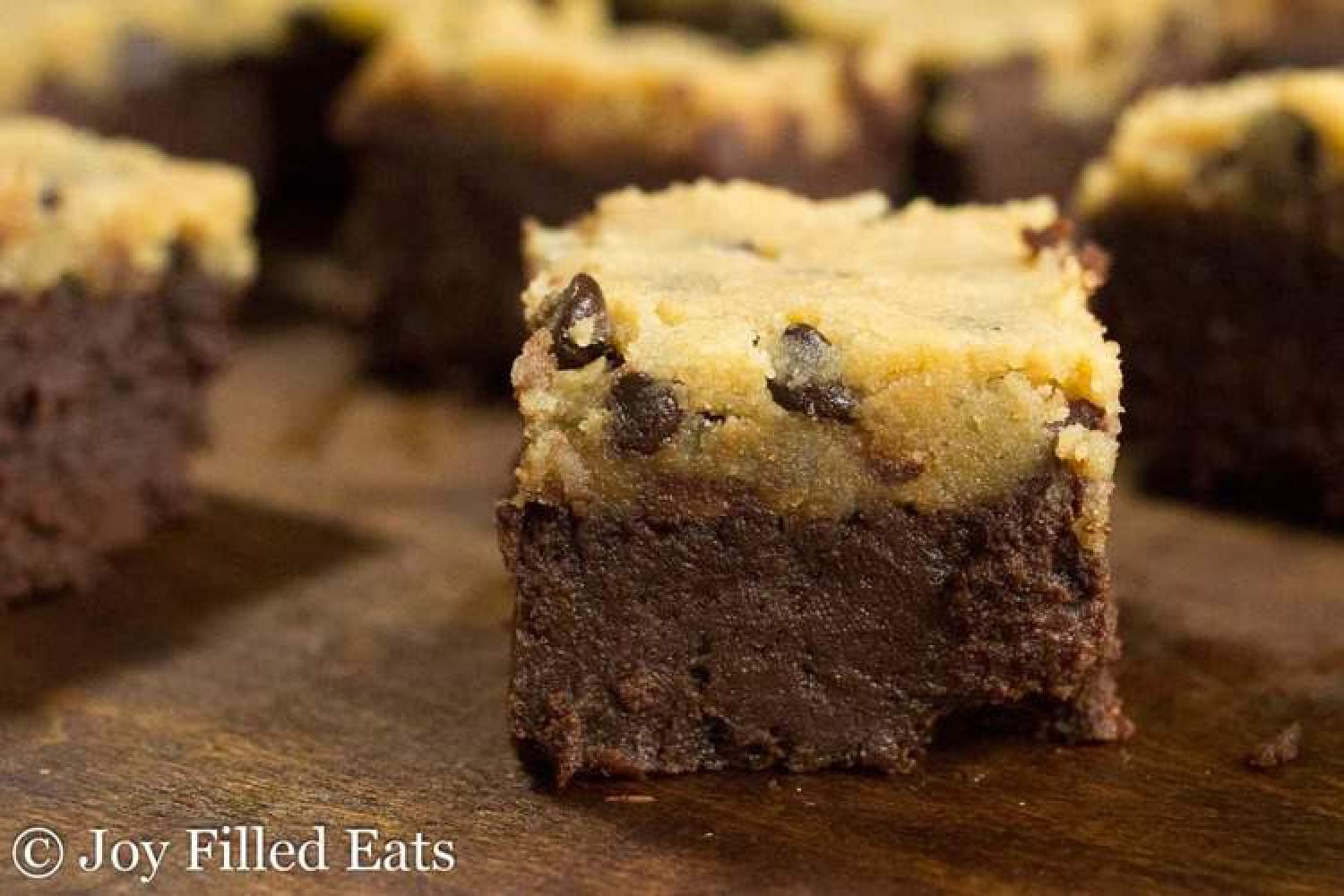 Chocolate Chip Cookie Dough Brownies - Joy Filled Eats