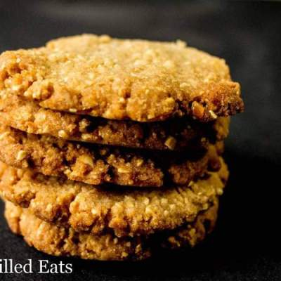Crunchy Peanut Cookies – Low Carb, Grain Sugar Egg Free, THM S