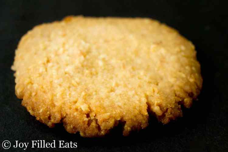close up of a peanut cookie showing the texture