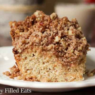 Cinnamon Crumb Cake Recipe w/ Pecans Low Carb Keto