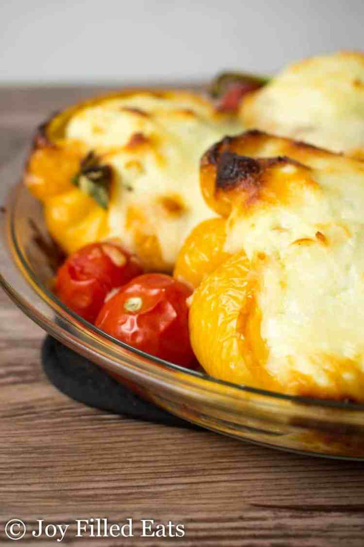 Close up of the White Lasagna Stuffed Peppers