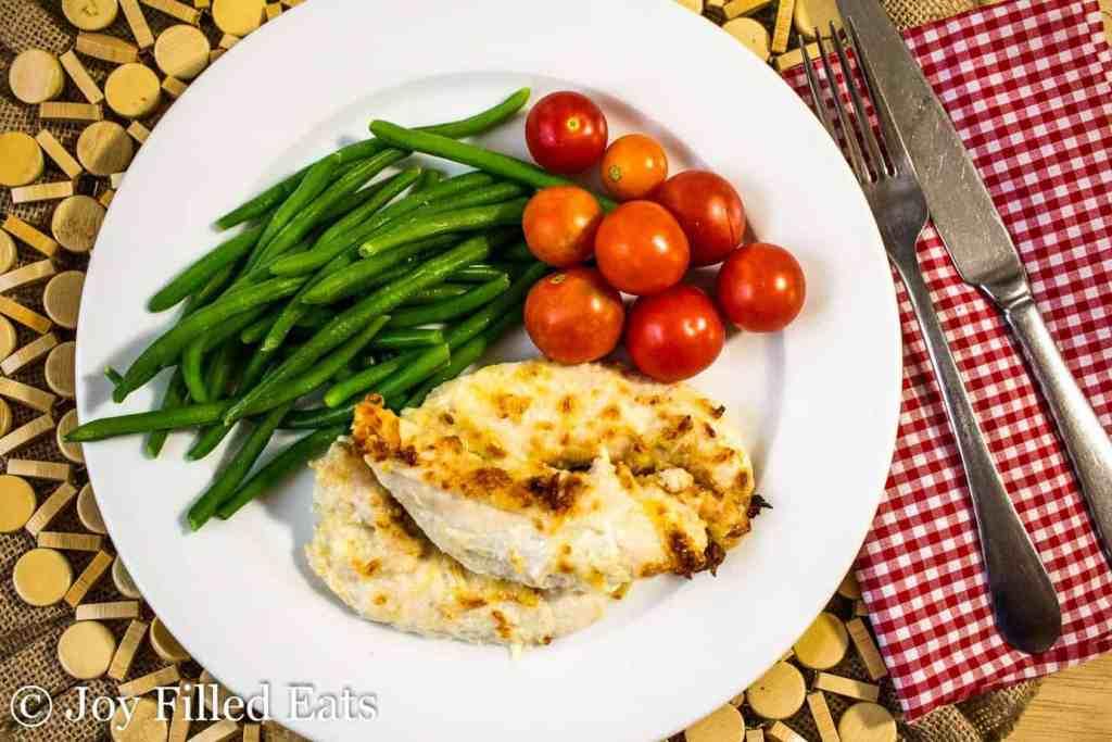 Five Minute Garlic Parmesan Chicken Tenders - Low Carb, THM S, Grain Gluten Free, Keto