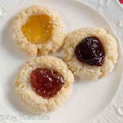 Low Carb Jam Thumbprint Cookies – Grain Free, THM S