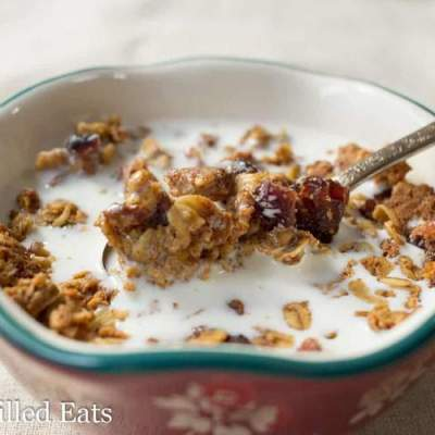 Healthy Oatmeal Cookie Granola – Gluten-Free, THM E