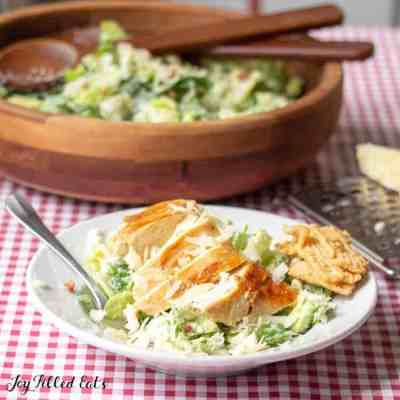 Keto Caesar Salad with Bacon