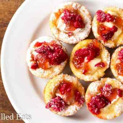 Brie Appetizer Bites with Raspberry Low Carb Keto THM S