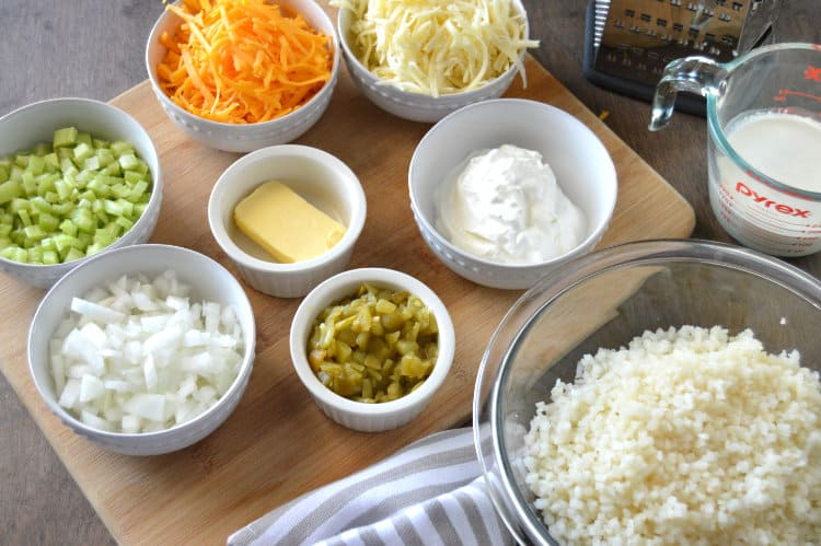 Green Chile Cauliflower Rice Ingredients