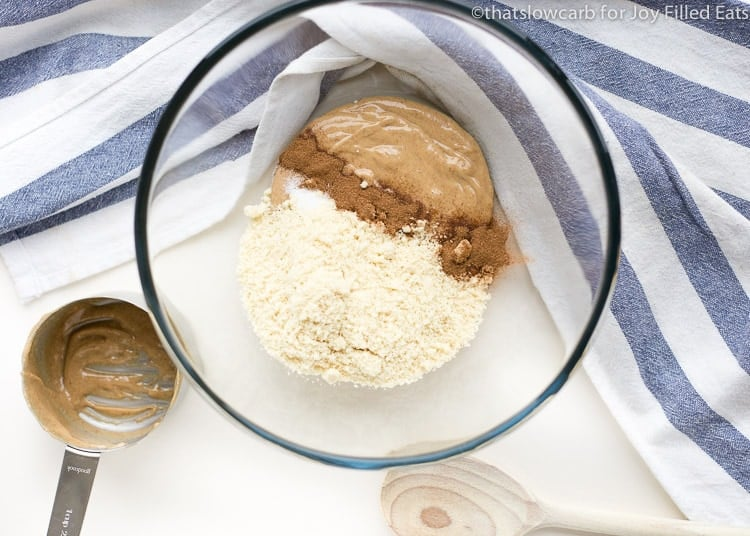 ingredients for the easy protein balls in a glass bowl
