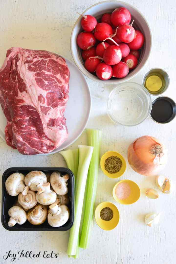 ingredients for the instant pot pot roast recipe