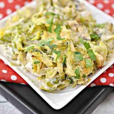 Chicken Alfredo Bake Recipe Easy Low Carb Keto THM S