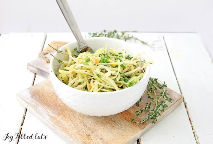 the Kohlrabi Salad with Homemade Italian Dressing and fresh thyme