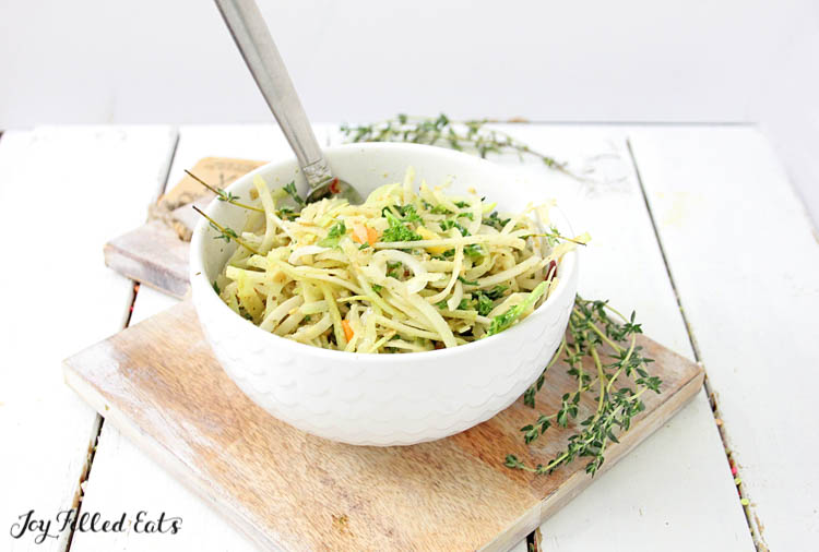 the Kohlrabi Salad with Homemade Italian Dressing and fresh thyme