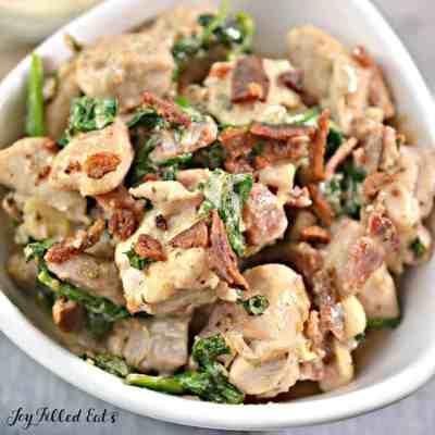 Chicken Carbonara Recipe – Keto, Low Carb, Gluten-Free