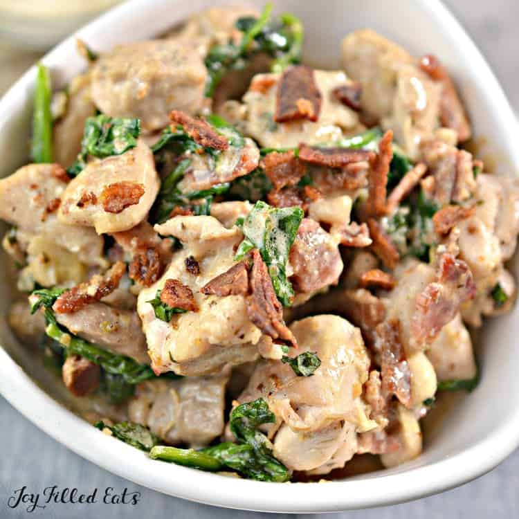 Chicken Carbonara Recipe - keto lunch recipe