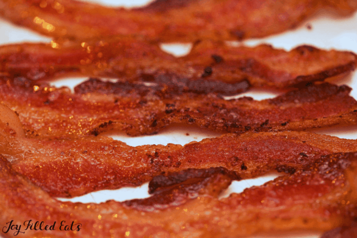 strips of cooked bacon