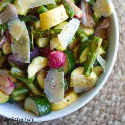 Grilled Vegetable Salad with Lemon Basil Vinaigrette