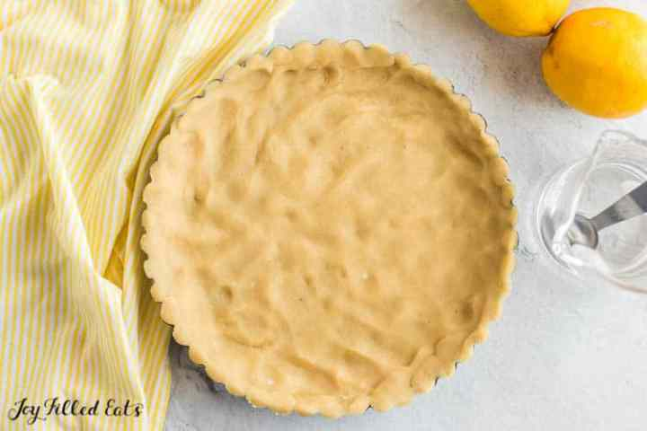 crust pressed into a tart pan