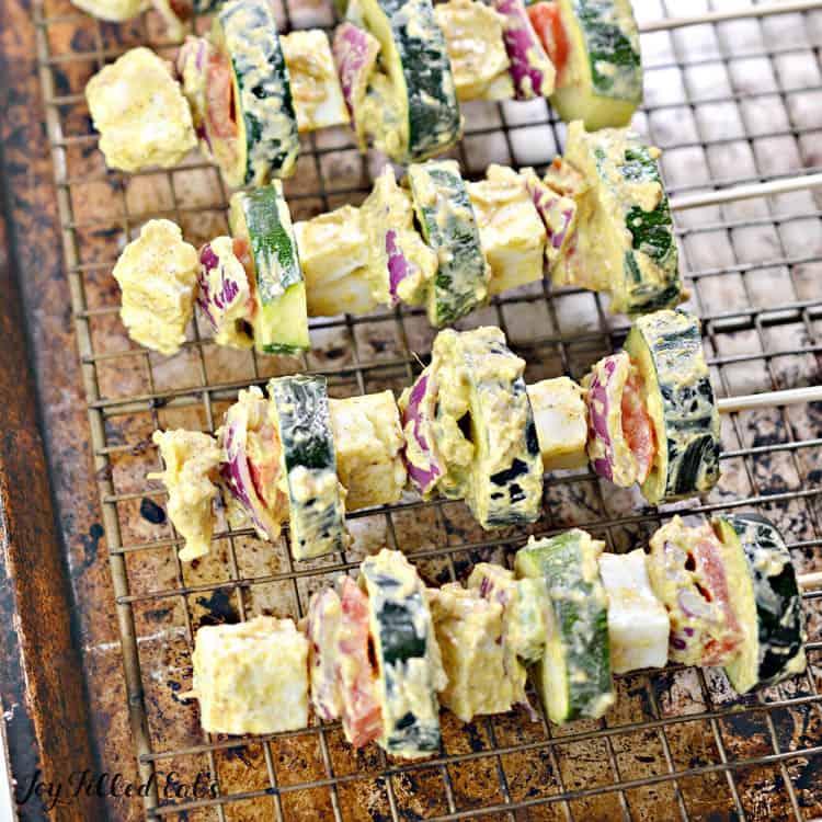 how to make paneer tikka kebabs on a metal pan