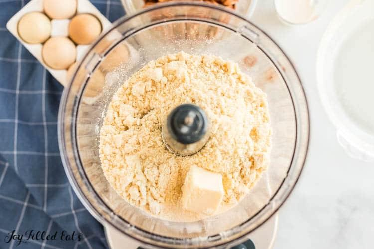 pie crust ingredients in a food processor