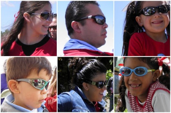 family in shades