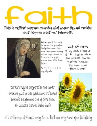 st catherine faith craft page