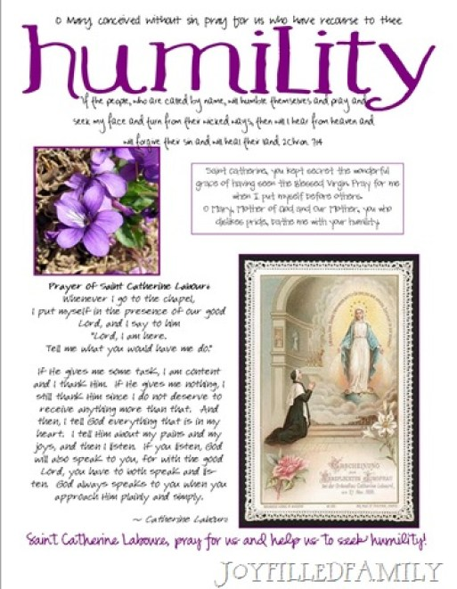 humility craft page