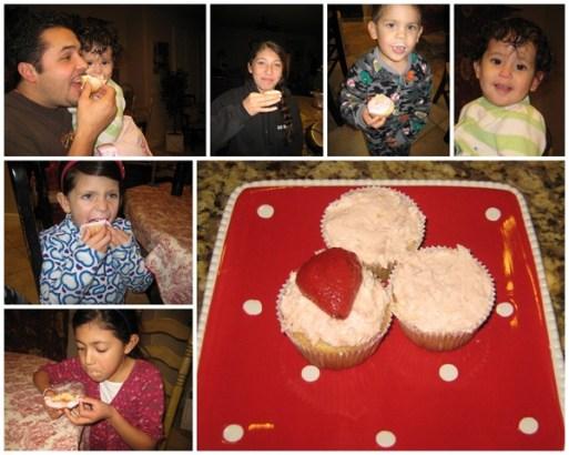 11 strawberry lemonaid cupcakes