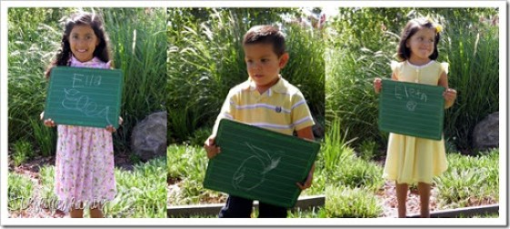 3 littles with chalkboard