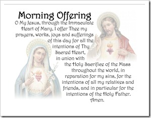 Immaculate Heart of Mary & Sacred Heart of Jesus - Morning Offering Pillow Case image