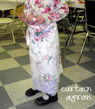 LF finished curtain apron