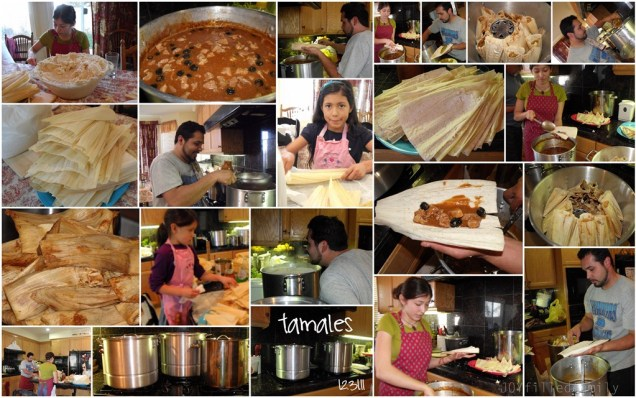 tamales collage