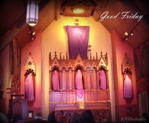 Good Friday Altar