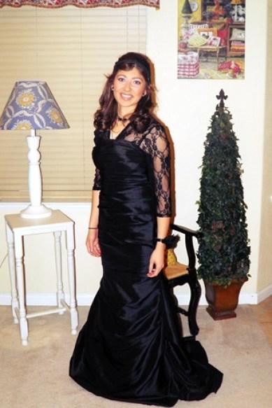 Elissa ready to go Christmas Ball