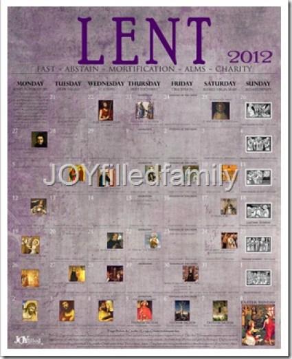 2012 Lenten Calendar - Old