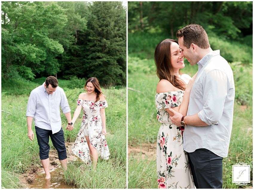 Cook Forest River Engagement Photos by Jackson Signature Phototgaphy a Cook Forest wedding and engagement photographer | Gateway Lodge