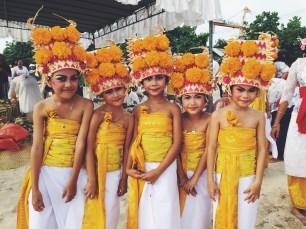 Pretty Balinese girls