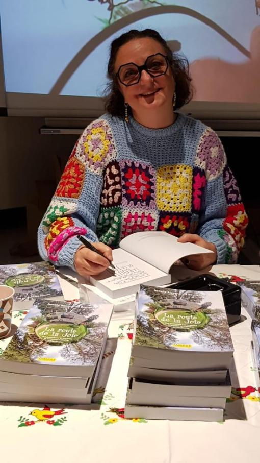 Isabelle Alexandrine Bourgeois signature livre La Route de la Joie