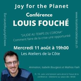 «La joie au temps du Corona» – conférence de Louis Fouché le 11 août en Suisse (COMPLET)