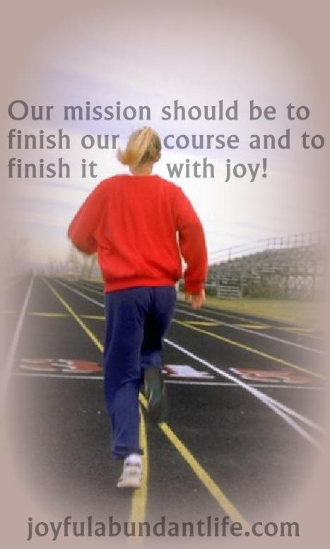 finish with joy
