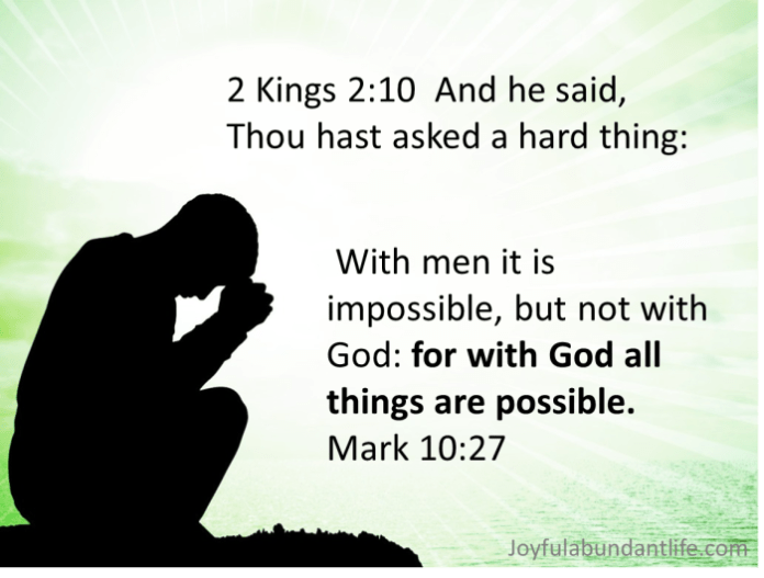 Have you asked a hard thing of the Lord today?