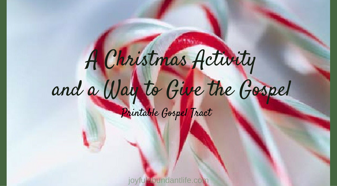 A Christmas Activity and a way to give the Gospel