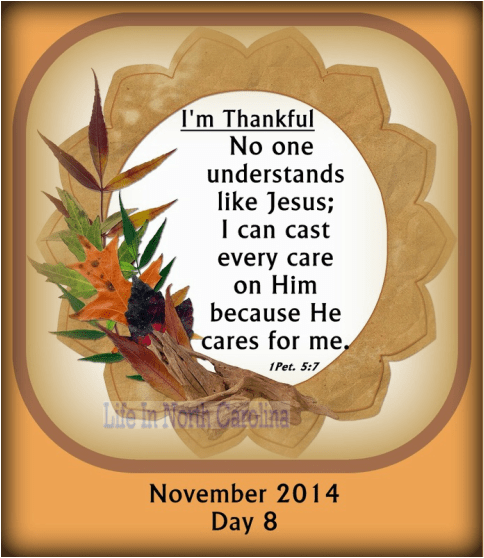 No one understands like Jesus; you can cast every care on Him for He cares for you.