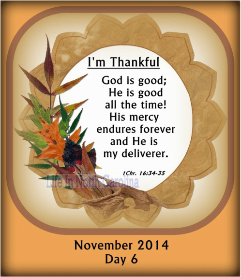 God is good all the time.  His mercy endures forever; He is my deliverer.
