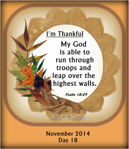 My God is able to run through troops and leap over the hightest walls.