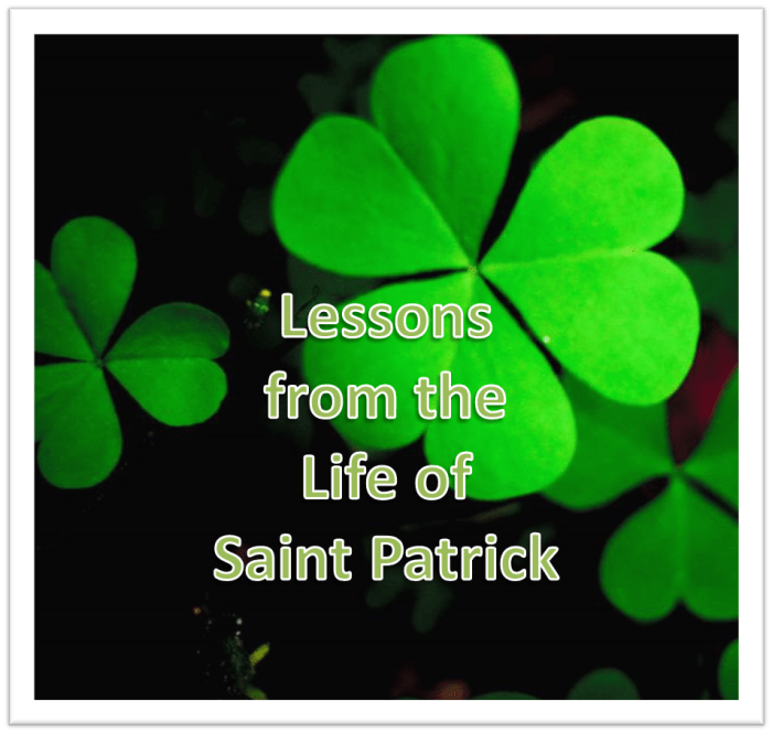 Lessons from the life of St. Pat.