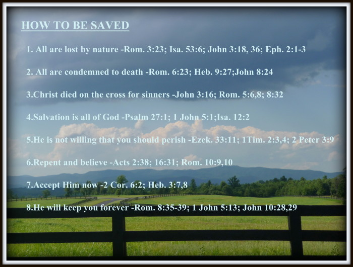 How to be Saved According to God's Word