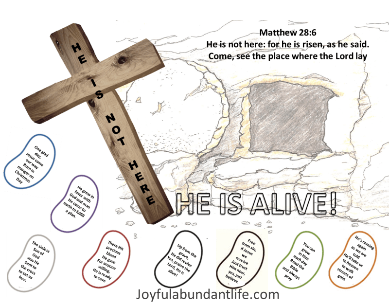 Jesus is Alive and Jelly Bean Poem Craft